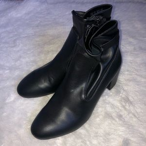 Franco sarto black healed booties size 9 1/2